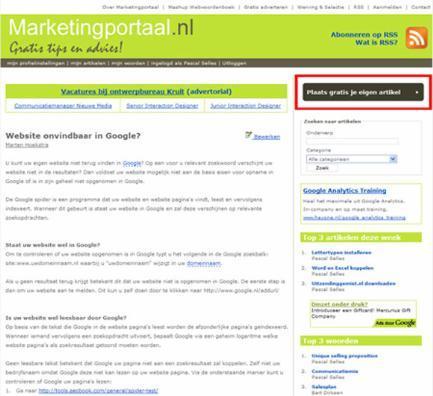 Marketingportaal screenshot
