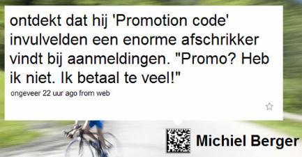 Promocodes tweet Michielb