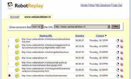 Robotreplay webanalisten.nl screendump