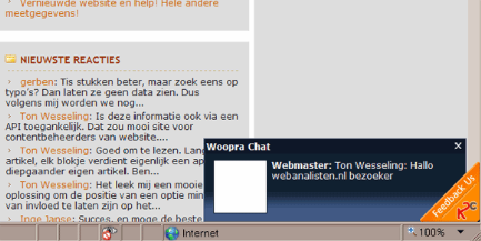 Woopra chat site