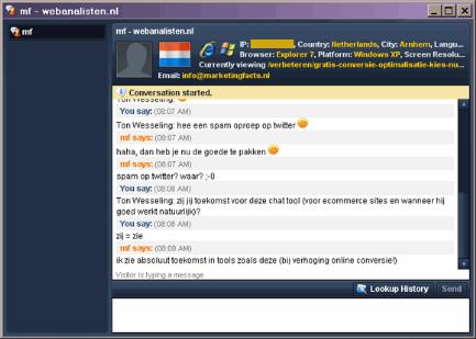Woopra chat