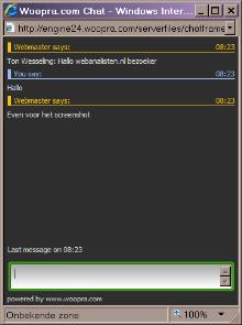 Woopra chat box