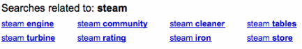 Google Search related to: Steam