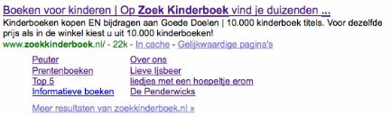 Zoekkinderboek Sitelinks
