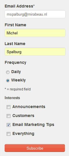 voorbeeld mailchimp