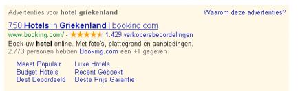 Afbeelding van Booking.com advertentie