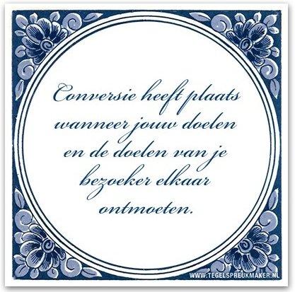 Conversie heeft plaats wanneer jouw doelen en de doelen van je bezoeker elkaar ontmoeten