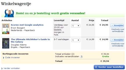 webwinkel checkout
