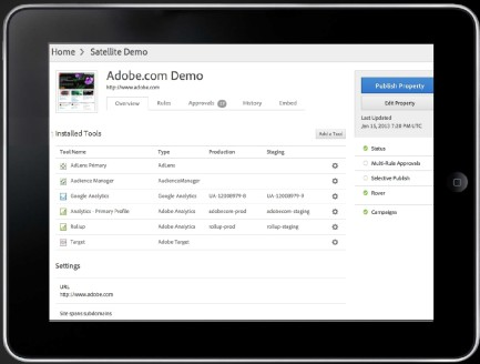 tms adobe demo tablet