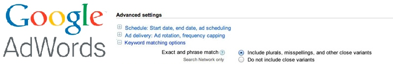 adwords exact match header