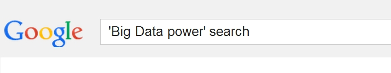 big data power search