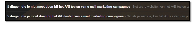 ab test e-mail header