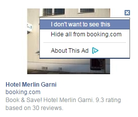 facebook relevance score dont see