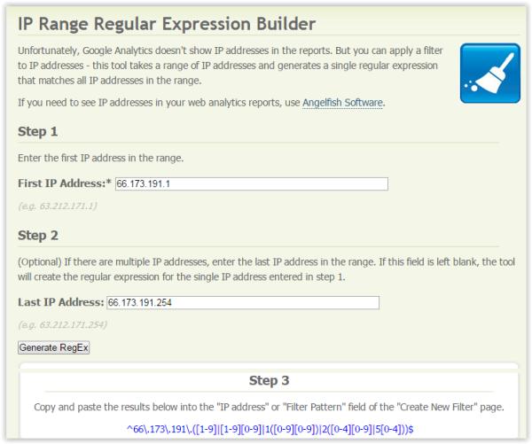 IP Range Regular Expression Builder