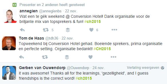 tweets conversion hotel