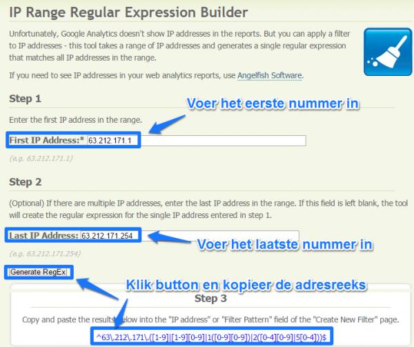 IP RegEx range builder