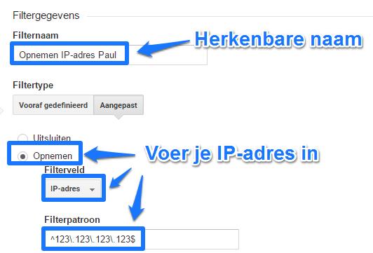Opnemen IP adres