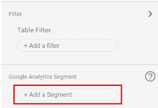 Segmenten in Google Data Studio