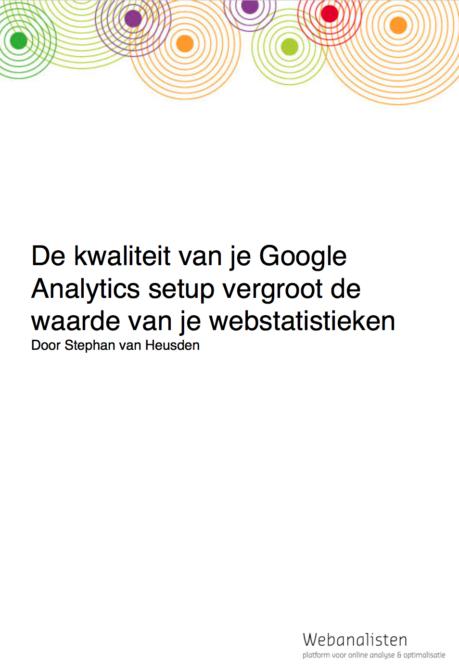 De kwaliteit van je Google Analytics
