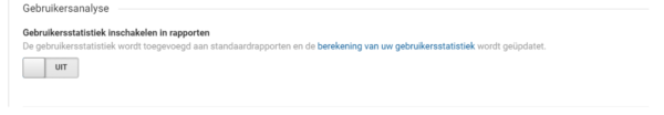 update van Google Analytics