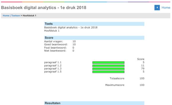 Basisboek Digital Analytics - online oefening